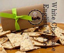 Almond White Chocolate Toffee – 16 ox Box